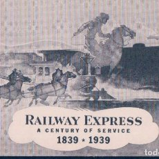 Postales: POSTAL RAILWAY EXPRESS - A CENTURY OF SERVICE 1839-1939 - CARL BURGER. Lote 115071359