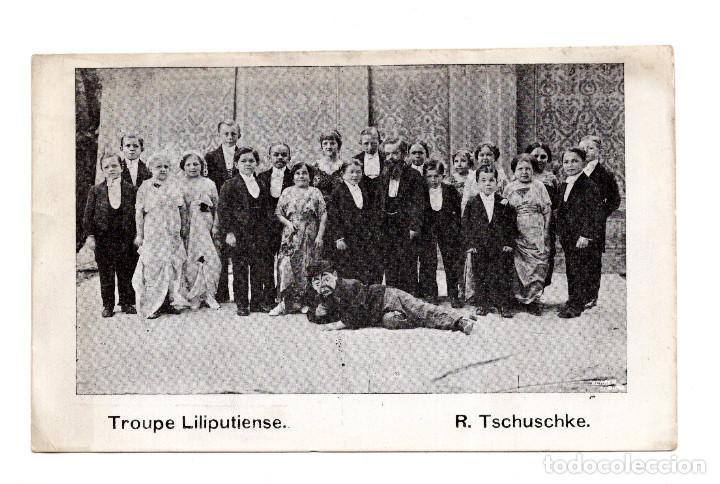 TROUPE LILIPUTIENSE. R. TSCHUSCHKE. CIRCO, ENANOS (Postales - Postales Temáticas - Publicitarias)