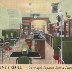 Postales: P- 8147. POSTAL GENE'S GRILL, CARTHAGE'S POPULAR EATING PLACE.. Lote 115450647