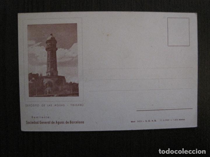 POSTAL PUBLICIDAD - SOCIEDAD GENERAL DE AGUAS DE BARCELONA -VER FOTOS - (52.266) (Postales - Postales Temáticas - Publicitarias)