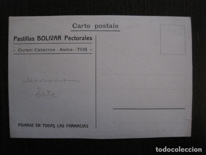 Postales: POSTAL PUBLICIDAD - FARMACIA - PASTILLAS BOLIVAR PARA CATARROS ASMA Y TOS -VER FOTOS - (52.268) - Foto 4 - 115514339
