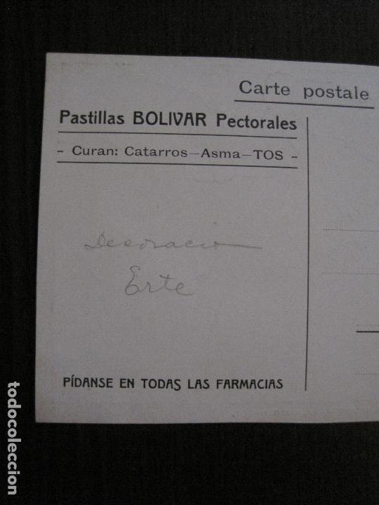 Postales: POSTAL PUBLICIDAD - FARMACIA - PASTILLAS BOLIVAR PARA CATARROS ASMA Y TOS -VER FOTOS - (52.268) - Foto 6 - 115514339