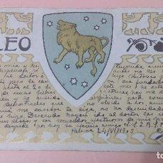 Postales: PR-782.- POSTAL PUBLICITARIA -- HOROSCOPO -- LEO-- CIRCULADA 1905. Lote 116077095