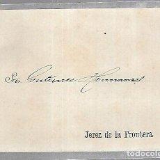 Postales: POSTAL PUBLICITARIA. GUTIERREZ HERMANOS. 1896. JEREZ DE LA FRONTERA. VER DORSO. Lote 116336427