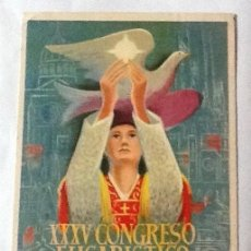 Postales: XXXV CONGRESO EUCARÍSTICO, BARCELONA 1952. Lote 116526019