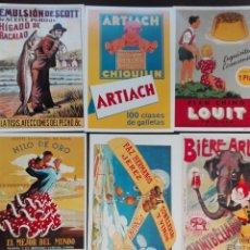 Postales: LOTE 6 POSTALES PUBLICITARIAS. Lote 117044295