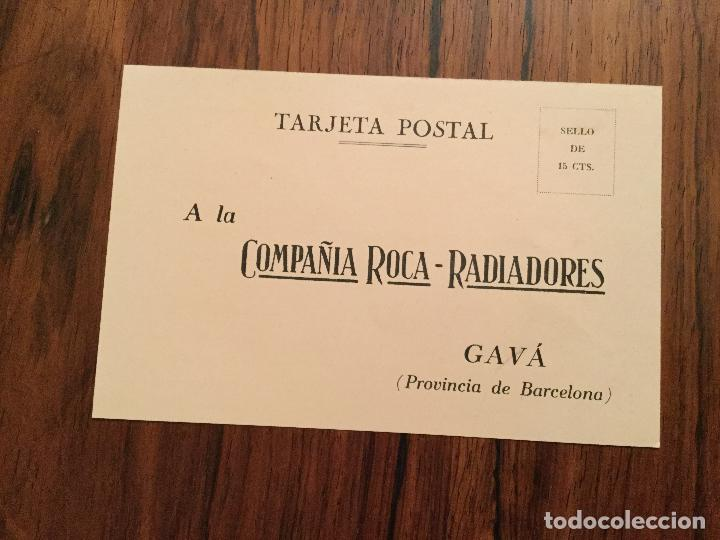 POSTAL PUBLICITARIA COMPAÑIA ROCA - RADIADORES, GAVA BARCELONA. (Postales - Postales Temáticas - Publicitarias)