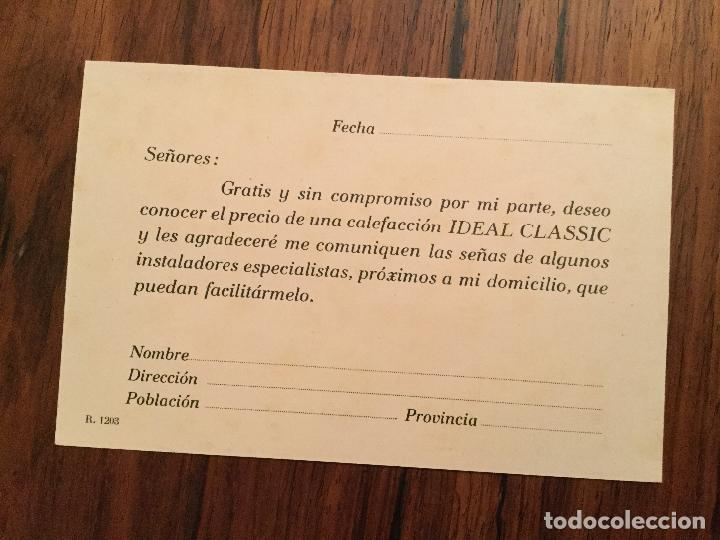 Postales: POSTAL PUBLICITARIA COMPAÑIA ROCA - RADIADORES, GAVA BARCELONA. - Foto 2 - 117469951