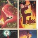 Postales: COLECCIÓN POSTALES FALLAS DE VALENCIA 1950 A 1961 VARIOS AÑOS (7 EJEMPLARES). Lote 117764135