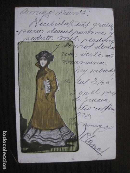 POSTAL PUBLICITARIA REVISTA ARTS-TALLERES BARRAL- DIBUJO NUALART-REVERSO SIN DIVIDIR -(52.648) (Postales - Postales Temáticas - Publicitarias)