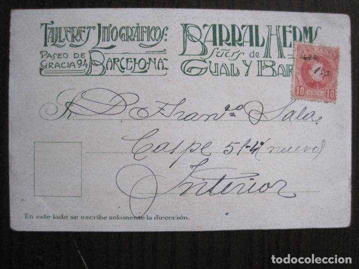 Postales: POSTAL PUBLICITARIA REVISTA ARTS-TALLERES BARRAL- DIBUJO NUALART-REVERSO SIN DIVIDIR -(52.648) - Foto 4 - 118273607