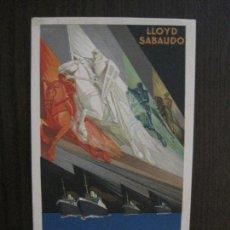 Postales: POSTAL PUBLICITARIA LLOYD SABAUDO - COMPAÑIA NAVIERA -VER FOTOS -(52.658). Lote 118275607