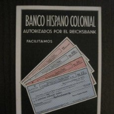 Postales: POSTAL PUBLICITARIA BANCO HISPANO COLONIAL -VER FOTOS -(52.665). Lote 118277947