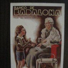 Postales: POSTAL PUBLICITARIA BANCO DE BADALONA -VER FOTOS -(52.666). Lote 118278087