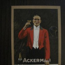 Postales: POSTAL PUBLICITARIA CHAMPAN ACKERMAN -VER FOTOS -(52.667). Lote 118278267