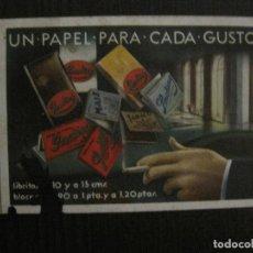 Postales: POSTAL PUBLICITARIA PAPEL DE FUMAR SMOKING -VER FOTOS -(52.669). Lote 118278619