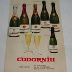 Postales: (ALB-TC-21) TARJETA TIPO POSTAL PUBLICITARIA CAVAS CODORNIU. Lote 118411679
