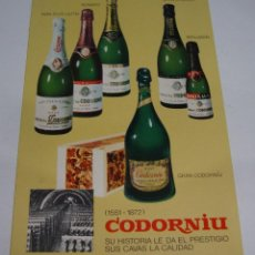 Postales: (ALB-TC-21) TARJETA TIPO POSTAL PUBLICITARIA CAVAS CODORNIU. Lote 118411683