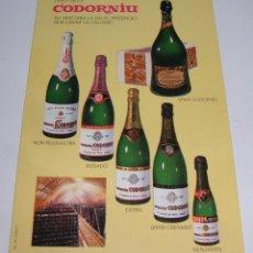 Postales: (ALB-TC-21) TARJETA TIPO POSTAL PUBLICITARIA CAVAS CODORNIU. Lote 118411687