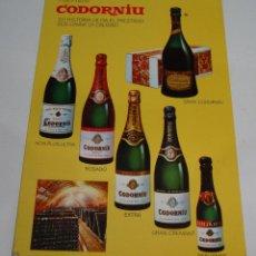 Postales: (ALB-TC-21) TARJETA TIPO POSTAL PUBLICITARIA CAVAS CODORNIU. Lote 118411695