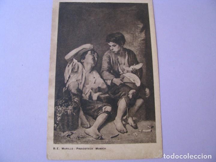 POSTAL DE PUBLICIDAD DE VINOS DE JEREZ. DIEZ HERMANOS. CONFITERÍA BRUN CADIZ. CUADRO DE MURILLO. (Postales - Postales Temáticas - Publicitarias)