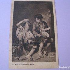 Postales: POSTAL DE PUBLICIDAD DE VINOS DE JEREZ. DIEZ HERMANOS. CONFITERÍA BRUN CADIZ. CUADRO DE MURILLO.. Lote 118709979