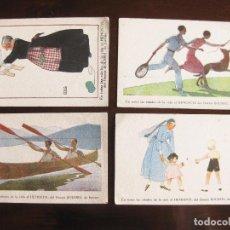 Postales: 4 POSTALES PUBLICITARIAS DE FARMACIA - POSTAL DE HEMOSTYL DEL DOCTOR DOUSSEL. Lote 120087383