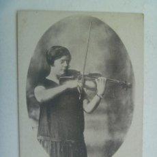 Postales: POSTAL PUBLICITARIA DE LA VIOLINISTA LUZ G. BELGRANO . PRINCIPIOS DE SIGLO. MADRID. Lote 194347701