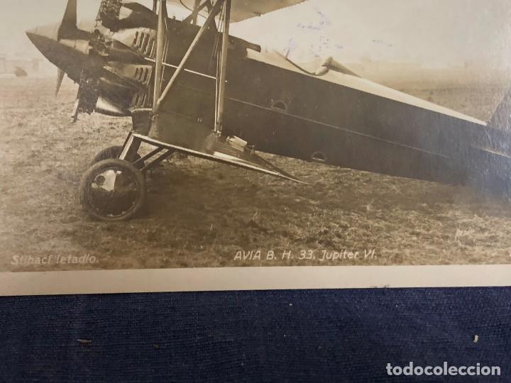 Postales: POSTAL PUBLICITARIA SKODA REPRESENTANTE AVION AVIA B H 33 JUPITER VI CAZA SIN CIRCULAR - Foto 2 - 120686539