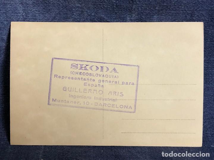 Postales: POSTAL PUBLICITARIA SKODA REPRESENTANTE AVION AVIA B H 33 JUPITER VI CAZA SIN CIRCULAR - Foto 3 - 120686539