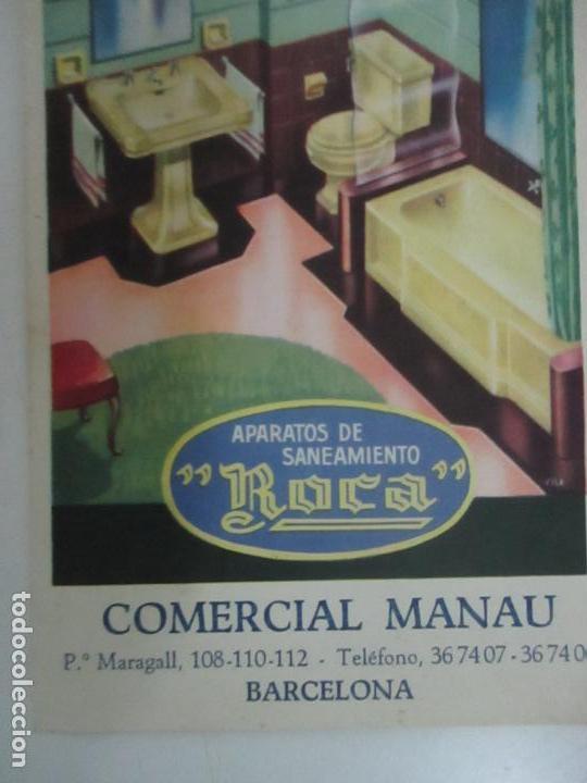 POSTAL PUBLICITARÍA MANAU - APARATOS DE SANEAMIENTO - MARCA ROCA (Postales - Postales Temáticas - Publicitarias)