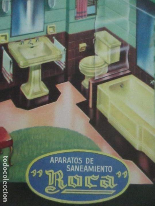 Postales: Postal Publicitaría Manau - Aparatos de Saneamiento - Marca Roca - Foto 2 - 120992451