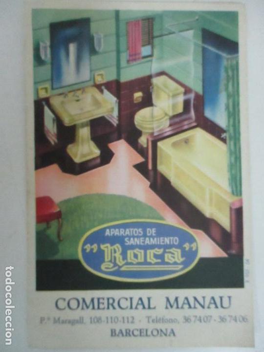 Postales: Postal Publicitaría Manau - Aparatos de Saneamiento - Marca Roca - Foto 4 - 120992451