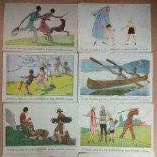 Postales: 8 POSTALES HEMOSTYL - EN TODAS LAS EDADES DE LA VIDA. Lote 121458191
