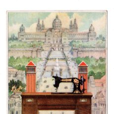 Postales: ANTIGUA POSTAL DE PUBLICIDAD DE MAQUINAS DE COSER WERTHEIM - LA CELEBRE RAPIDA .. Lote 122192155
