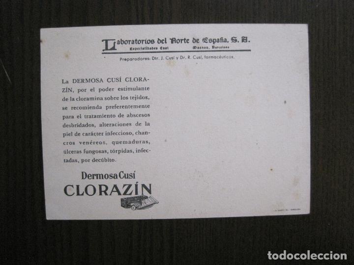 Postales: COLECCION 9 POSTALES FARMACIA - PUBLICIDAD DERMOSACUSI CLORAZIN - VER FOTOS - (52.943) - Foto 14 - 122706235