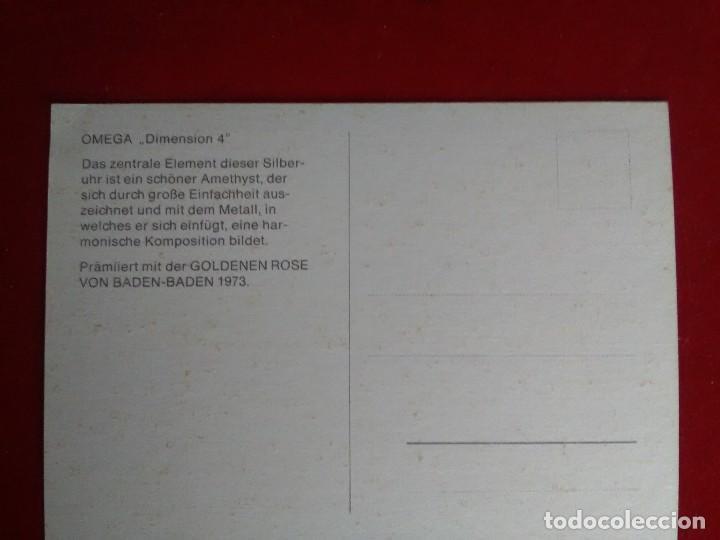 Postales: Postal de reloj Omega 1974 sin circular como nueva - Foto 2 - 124664979