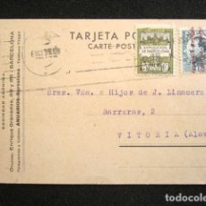 Postales: POSTAL PUBLICITARIA. PUBLICIDAD IMPRESA. BAILLY-BAILLIERE Y RIERA, BCN. CIRCULADA, VITORIA. 1931. Lote 124741563