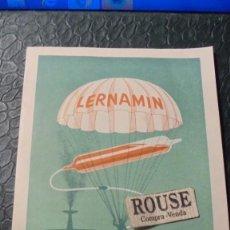 Postales: MEDICINA / IMPRESOS - LERNAMIN , INYECTABLE 4 PAG. LABORT. LERNA S.A. - HOSPITALET BARCELONA 15X. Lote 125691987