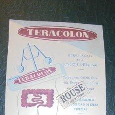 Postales: MEDICINA / IMPRESOS - TERACOLON , LABORT. TORRENT PLANAS SANTA PERPETUA DE MOGUDA BARCELONA . Lote 126037335