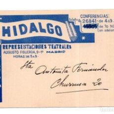 Postales: MADRID 1934. PUBLICIDAD REPRESENTACIONES TEATRALES.. Lote 126596627