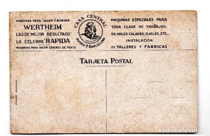 Postales: Maquinas para coser y bordar Wertheim,Casa Central-Barcelona - Foto 2 - 126649579