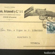 Postales: POSTAL PUBLICITARIA. ECHAVE, ARIZMENDI Y COMPAÑÍA S.L. FÁBRICA ARMAS DE FUEGO, EIBAR. VITORIA, 1935.. Lote 126978947