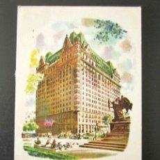 Postales: POSTAL PUBLICITARIA. THE PLAZA. NEW YORK. CIRCULADA, AIR MAIL. . Lote 126979095