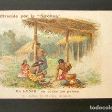 Postales: POSTAL PUBLICITARIA. LA SIROLINA, MEDICAMENTO PULMONAR. HOFFMANN-LA ROCHE. EL HOGAR, CABAÑAS. . Lote 126979303