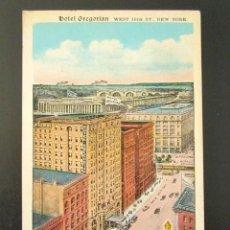 Postales: POSTAL PUBLICITARIA. HOTEL GREGORIAN, NUEVA YORK. . Lote 126980795
