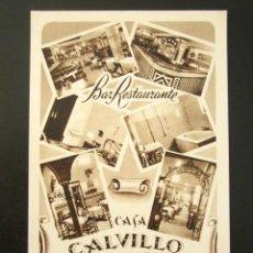 Postales: POSTAL PUBLICITARIA. CASA CALVILLO, BAR RESTAURANTE. SEVILLA.. Lote 126981331