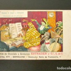 Postales: POSTAL PUBLICITARIA. ESTRADER, FÁBRICA DE CHOCOLATE Y BOMBONES, BARCELONA. PRIMERA EDICIÓN. . Lote 126981767