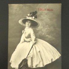 Postales: POSTAL PUBLICITARIA. ÚLTIMA MODA. AÑO 1914. . Lote 127119919