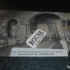 Postales: ANIS DEL MOMO / BARCELONA - ANTIGUA POSTAL FOTOGRAFICA VISTA INTERIOR DEL DESPACHO DE ANIS DEL MONO. Lote 127225819